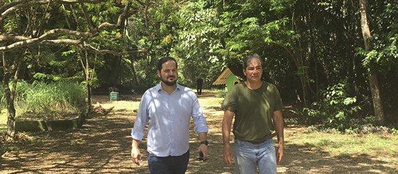 Trilhas do Parque do Mindu preparadas para receber os participantes da 1ª Corrida e Caminhada Ecológica Manaus