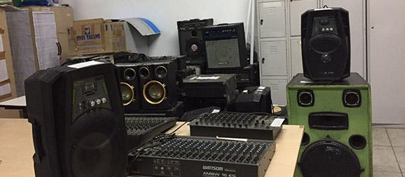 Operação de combate à poluição sonora apreende equipamentos de som nas Zona Norte e Leste