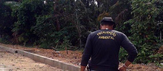 Prefeitura de Manaus vistoria área de preservação permanente do Loteamento Águas Claras