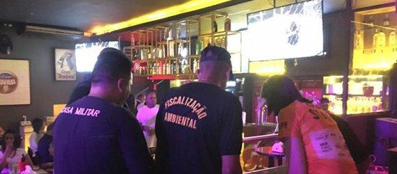 Cinco bares do Vieiralves são fiscalizados por denúncia de poluição sonora