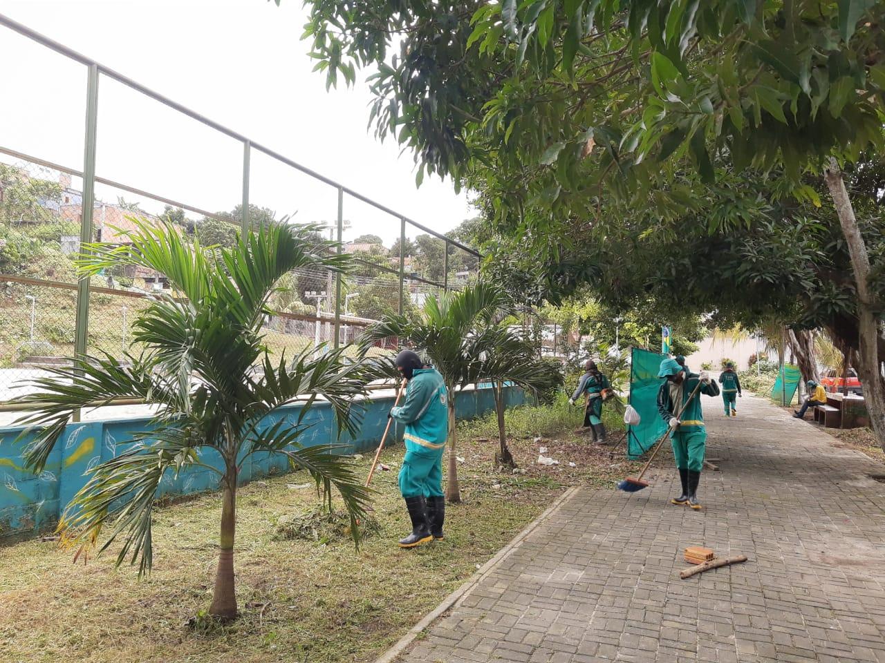 Prefeitura inicia revitalização em espaço verde do Campo Dourado