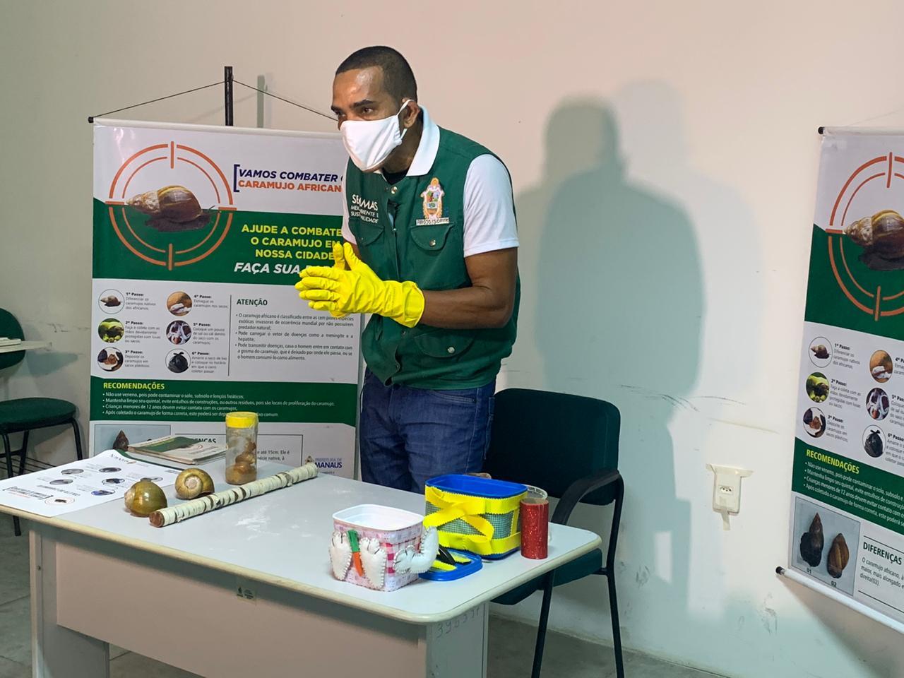 Prefeitura de Manaus orienta população no combate ao caramujo africano